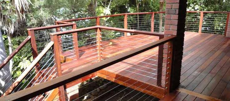 images of stainless steel cable railings on decks | ... Decking – North Perth - with Stainless Steel Cables as Safety Rails