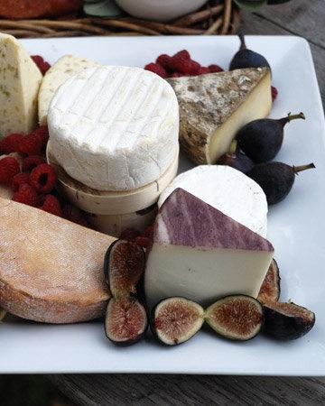 Gorgeous cheese & fruit platter