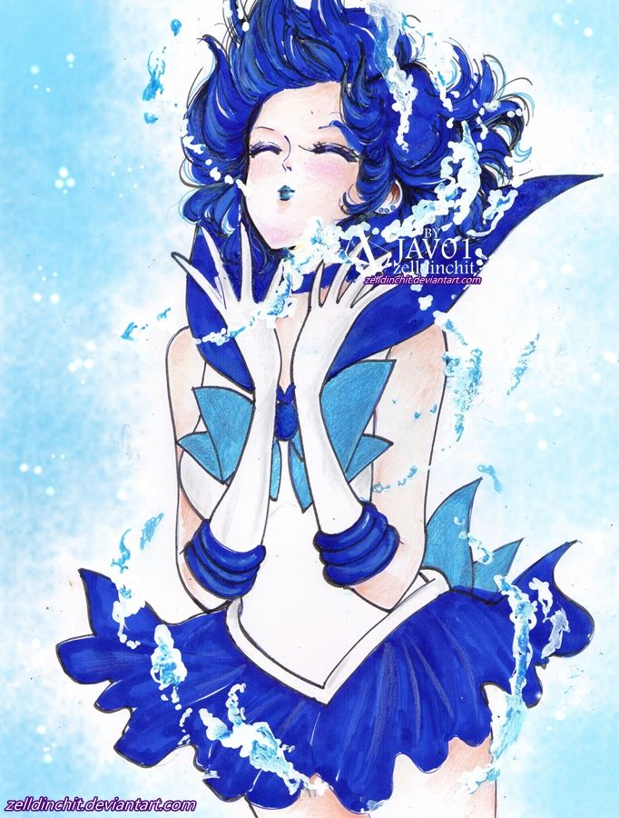 sailor mercury   shine aqua illusion by zelldinchit