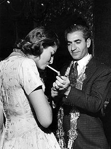 """Shah of Persia with his second wife Soraya. A tragic story. She was European-Iranian, Roman Catholic., At the time a religiously mixed marriage was considered to be """"dangerous"""". She wrote two books about her life, there is a french song about her. Several (tv) films were made about her. The shah """"had to"""" divorce her, because the marriage stayed childless for too long, and she refused to share the shah with a second wife."""