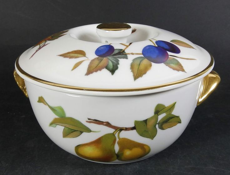 Royal Worcester EVESHAM Small Lidded Casserole / Vegetable Dish   Oven To  Table
