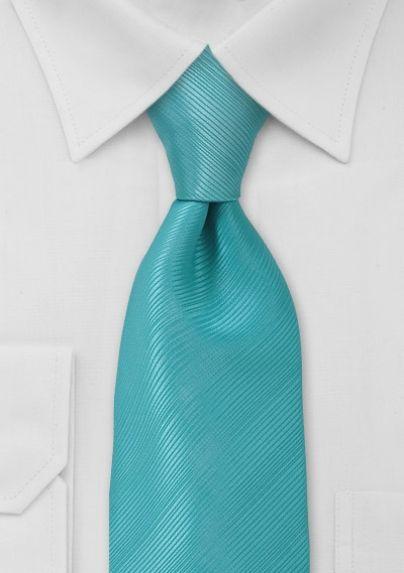 Solid Aqua Blue Mens Tie $14.90