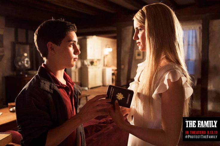 John D'Leo, Dianna Agron in the upcoming film The Family.