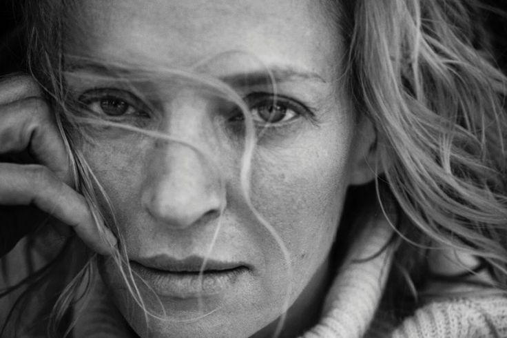 Natürliche Schönheit und Weiblichkeit: Uma Thurman im neuen Pirelli-Kalender.