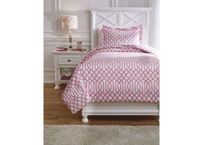 Q758011T Loomis Twin Comforter Set - Pink - Free Shipping!
