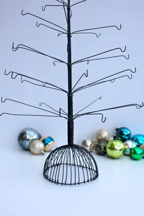 vintage wire christmas tree trees christmas trees and. Black Bedroom Furniture Sets. Home Design Ideas
