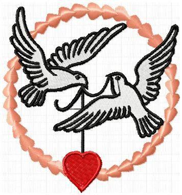 Tauben Hochzeit Stickdatei Instant download von IndiaBatonRouge auf Etsy