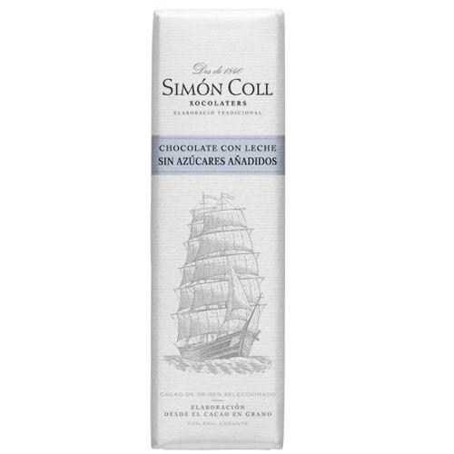 Simon Coll 18g. Ciocolata cu lapte FARA ZAHAR ADAUGAT