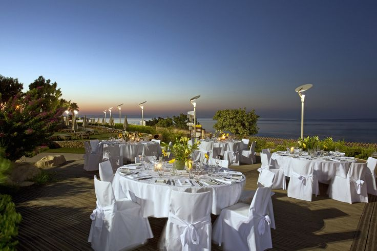 #CapoBay Outdoor Wedding Dinner with amazing views!
