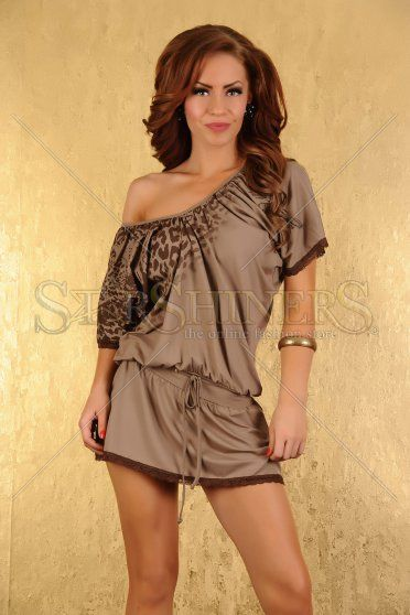 Rochie My77 Wild Secret Brown