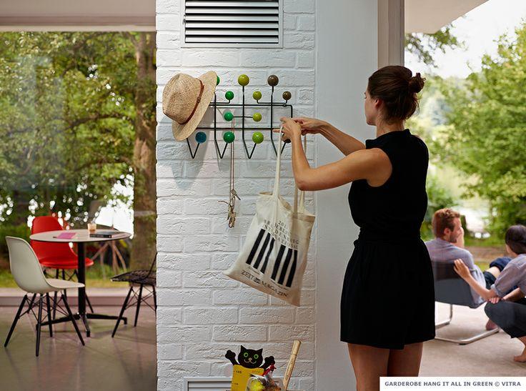 vitra hang it all garderobe green eames dsw 06. Black Bedroom Furniture Sets. Home Design Ideas