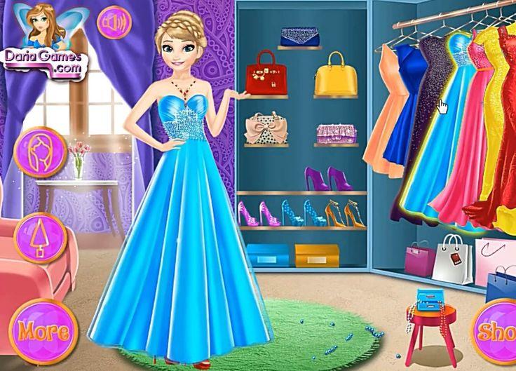 Disney Frozen Games Elsa Dress Up Игра Холодное Сердце Эльза Переодевание