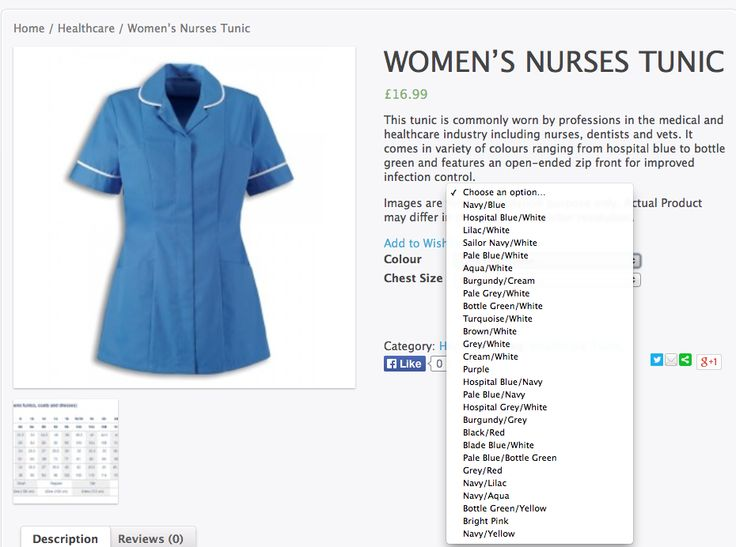 WOMEN'S NURSES TUNIC £16.99  This tunic is commonly worn by professions in the medical and healthcare industry including nurses, dentists and vets. It comes in variety of colours ranging from hospital blue to bottle green and features an open-ended zip front for improved infection control.  - See more at: http://www.uniqueuniformsforwork.co.uk/product/womens-nurses-tunic/#sthash.a1AmAy3e.dpuf