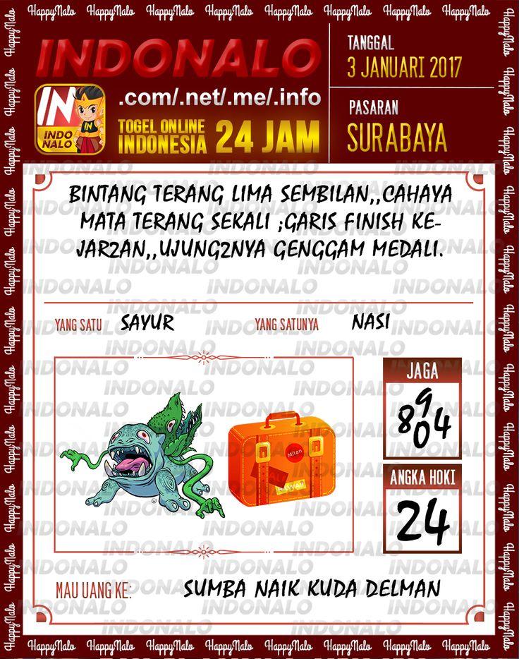 Kode Main 3D Togel Wap Online Live Draw 4D Indonalo Surabaya 3 Januari 2017