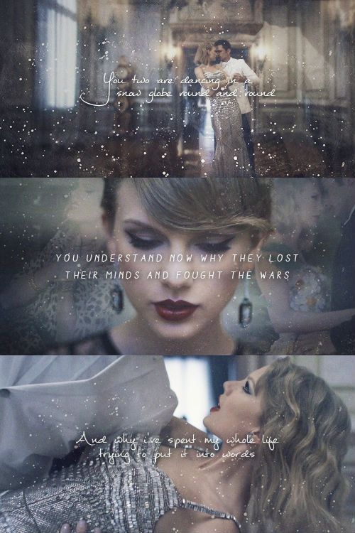 Taylor Swift Blank Space Music Video Youre In Love Lyrics