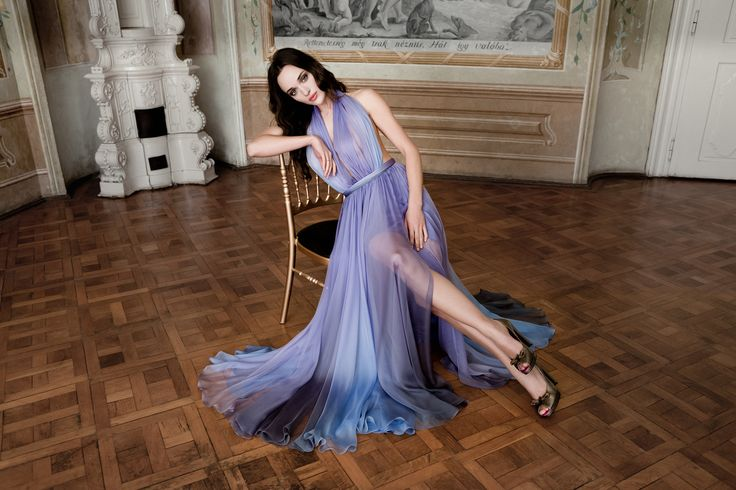Daalarna Couture Purple Ombre Evening Dress_Belle Collection
