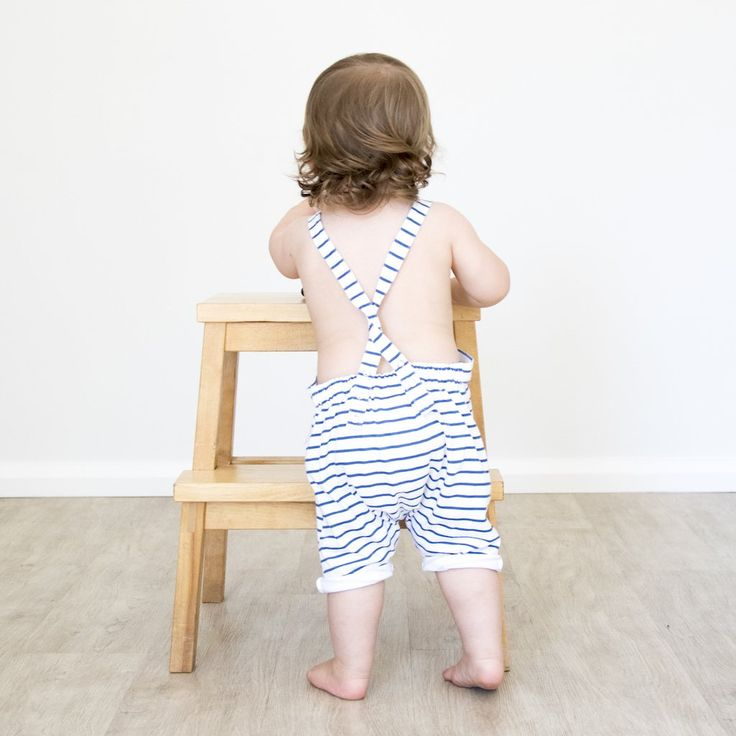swell & solis blue and white stripe Marine Shortalls