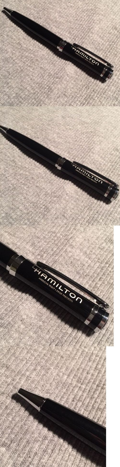 Other Watches 166739: Hamilton Watch Company Dealer Ballpoint Pen Black And Chrome Brand New -> BUY IT NOW ONLY: $43.5 on eBay!