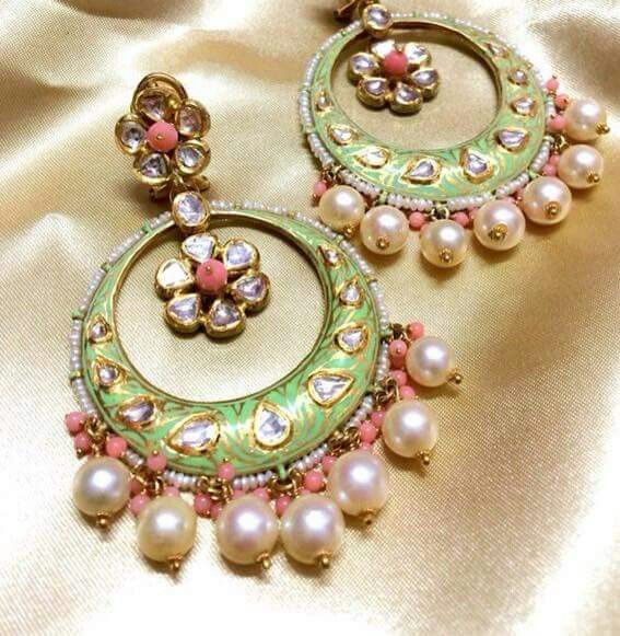 Beautiful Kundan Meena Antique Jewelry In 2018 Pinterest Jewels And Indian