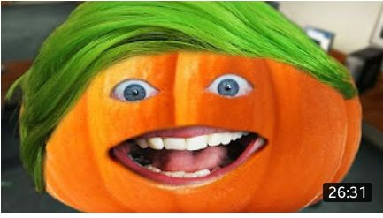 """darkstiella: """"i love the annoying orange's new hair style! """" It was originally going to be something much more creative but when I put the eyes and mouth on it just made me giggle so I went with it..."""