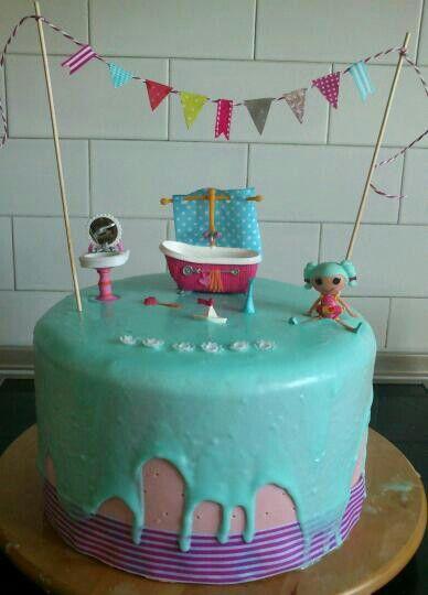 My daughter's sixth birthday lalaloopsy cake