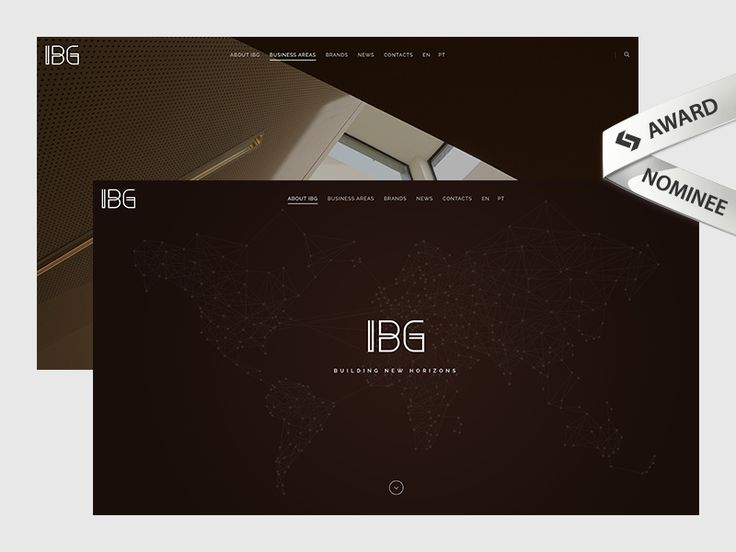 IBG Website Award Nominee by Boutik