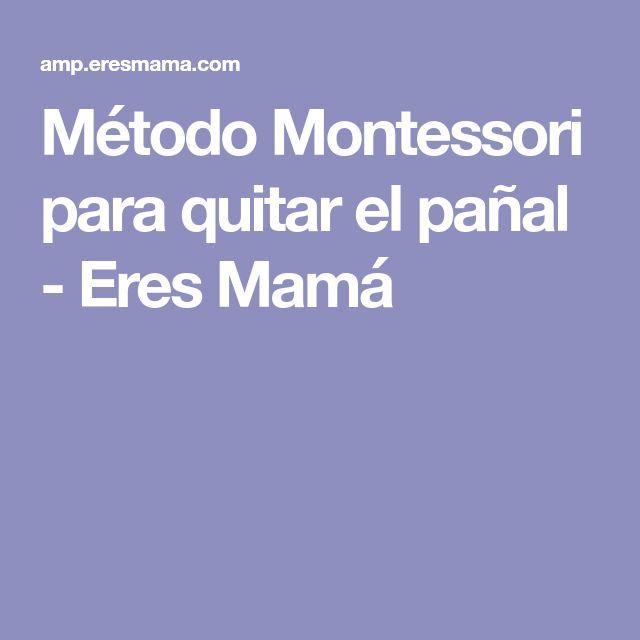 Método Montessori para quitar el pañal - Eres Mamá