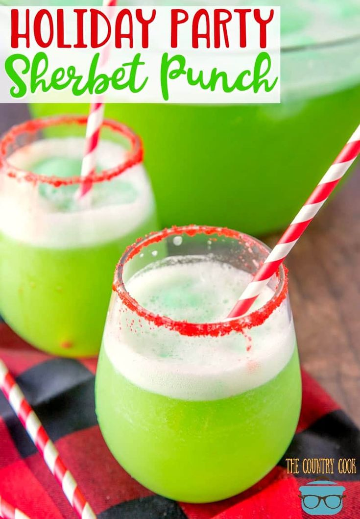Holiday Party Sherbet Punch – Cocktails