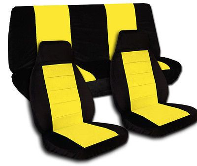 Black Yellow Car Seat Covers Front And Rear Jeep Wrangler