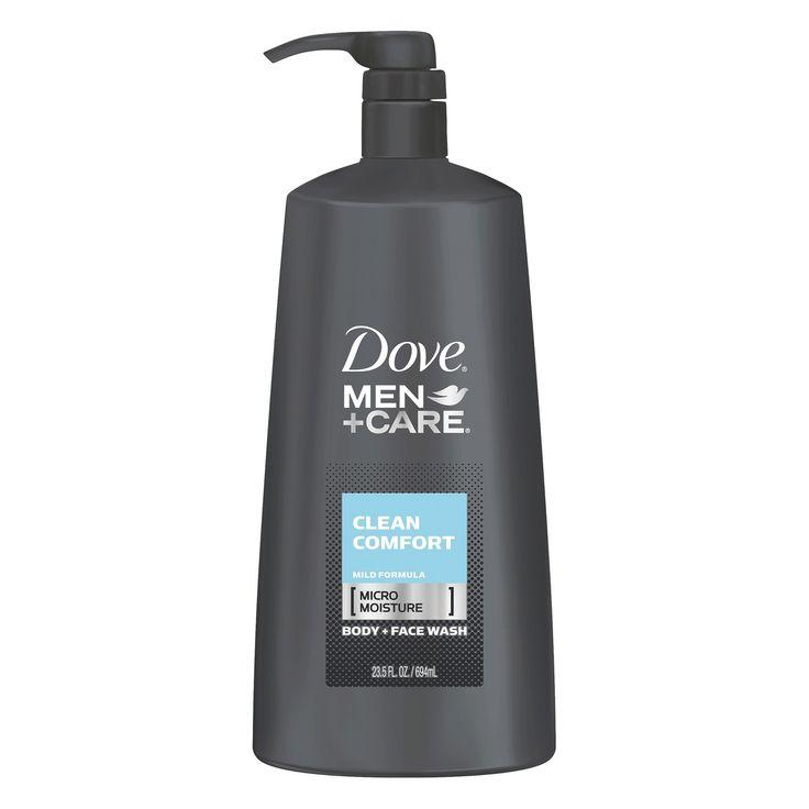 Dove Men+Care Clean Comfort Body Wash + Face Wash Pump 23.5 oz