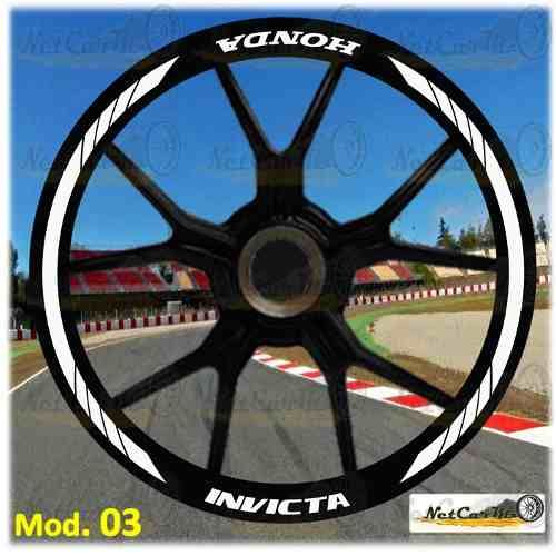 c2850714 Cintas Franjas Sticker Rines Moto Pulsar Honda Envio Gratis ...