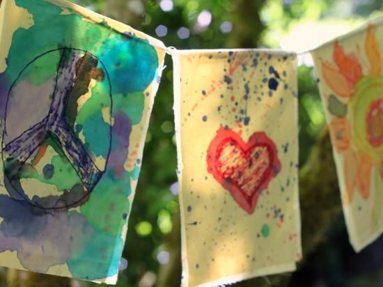 Pillowcase prayer flag project