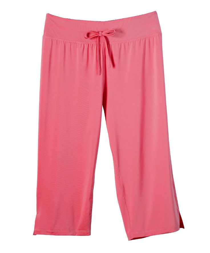 Look what I found on #zulily! Coral Capri Pants - Plus by Live Life Large #zulilyfinds