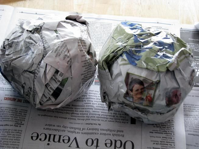Use newspaper instead of styrofoam for topiaries and other craft projects. So much cheaper! {This link WORKS.}