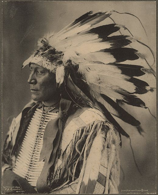 Chief Hollow Horn Bear, Sioux, no location, or year