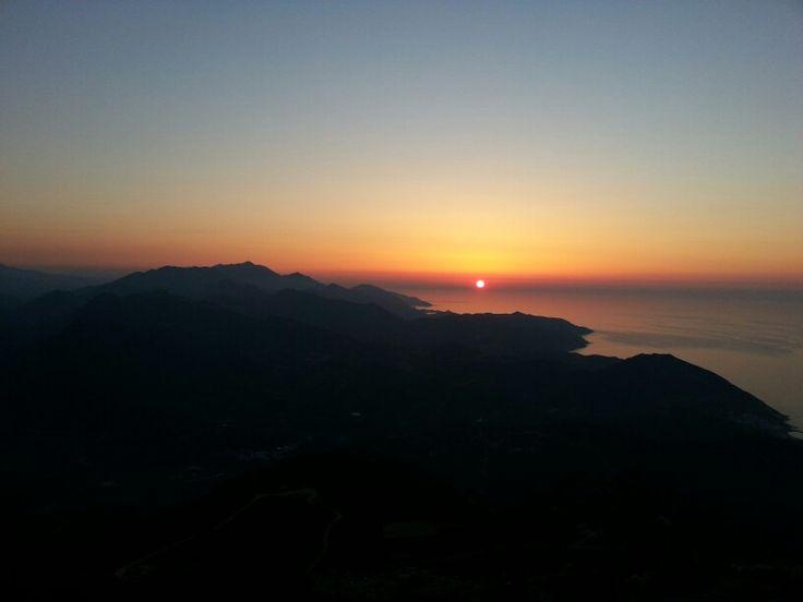 Sunset view from mount Vasiliko, Kreta