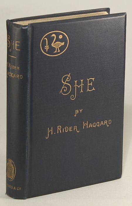 She: A History of Adventure, by H. Rider Haggard (source: wiki)