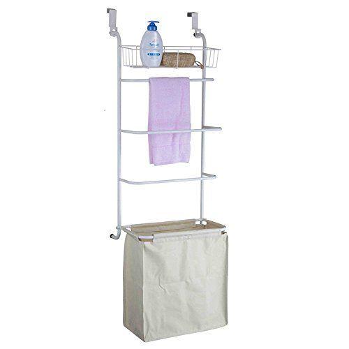 bathroom ondisplay overthedoor towel rack and laundry hamper visit the image link more details