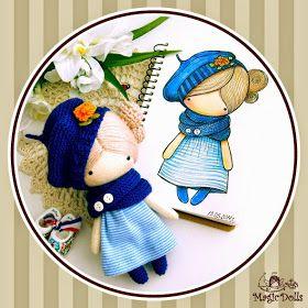 Muñeca crochet y fieltro Mira qué colección más cuqui