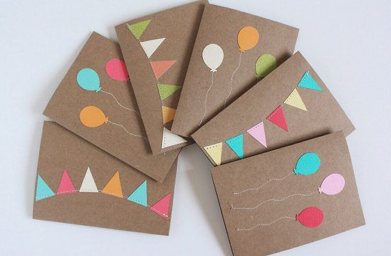 Birthday Card Variety Pack, Assorted Birthday Cards, Set of 6 on Etsy, $16.40 AUD