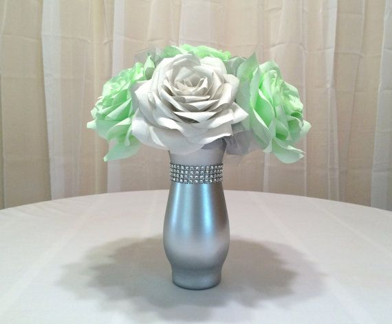 wedding mint green and grey and silver - Google Search