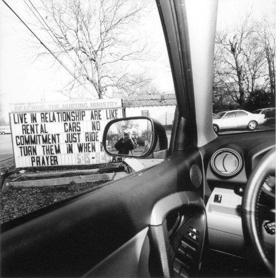 Lee Friedlander:America By Car & The New Cars 1964  —   From America by Car:  Mississippi, 2008, Gelatin-silver print  © Lee Friedlander, courtesy Fraenkel Gallery, San Francisco