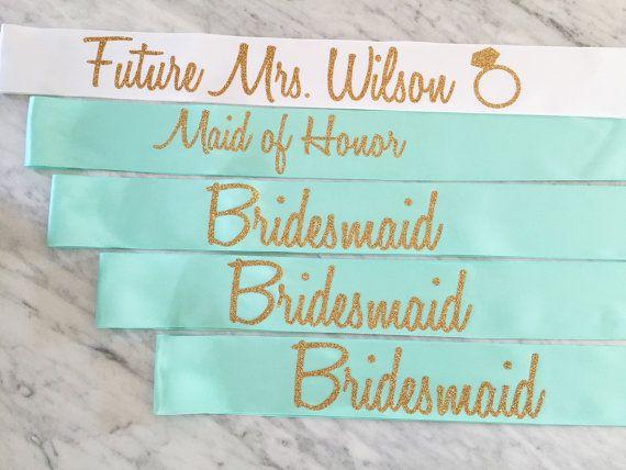 Burgundy sash and glitter gold lettering. Bachelorette party sash, bridal shower sash, by myeverydayparty