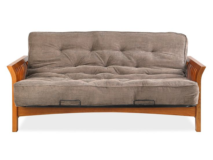 Simmons Boston Futon Frame Vintage Oak W 8 Beautyrest Visco Pocketed Coil Innersrping Futon in - best futon for sleeping