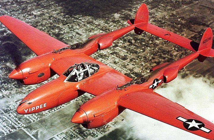 "P-38J Lightning aircraft ""Yippee'"" circa 1945. http://wrhstol.com/2kFvGuE"