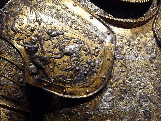 Decorative armor epaulettes pinterest armors for Shoulder decoration 9 letters