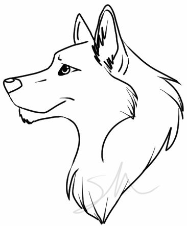 Easy Wolf Drawing - ClipArt Best