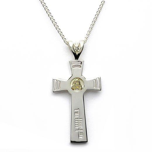Trinity Knot Faith Cross - Rings from Ireland
