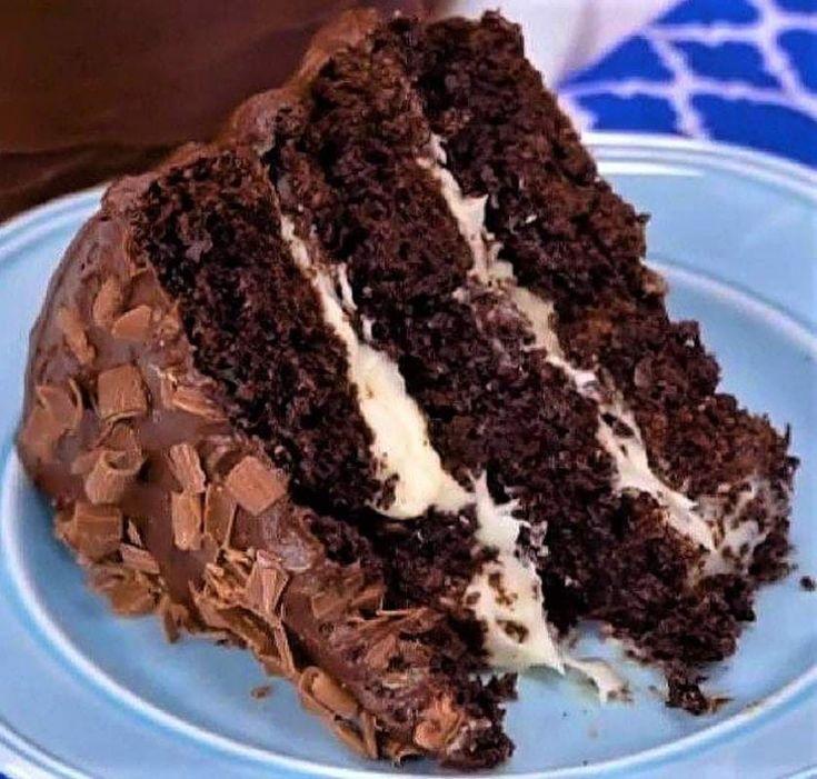 OMG!!! 3-layer Hersheys Chocolate cake! It has whipped Cream Cheese icing  then …