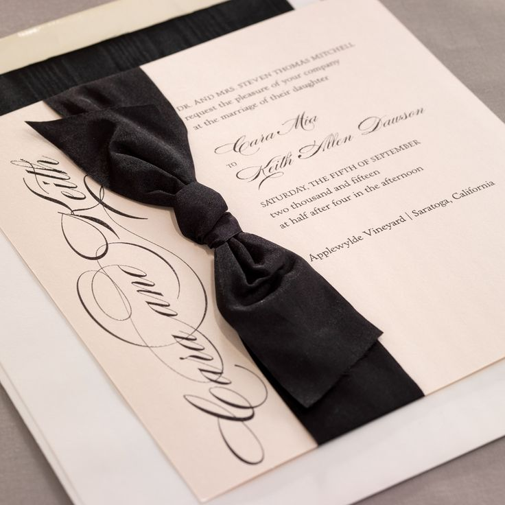 how to mail scroll wedding invitations%0A You can u    t go wrong with this invitation for a black tie  wedding